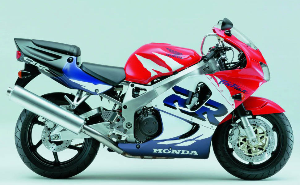 Honda Cbr 900rr 1999 White Red Blue Decal Kit By Motodecal Com
