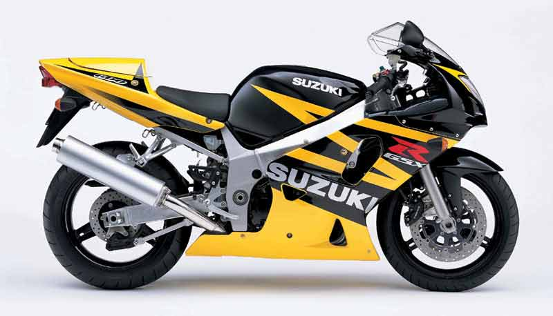 suzuki gsx r 600 2003 black yellow decal kit by motodecal com. Black Bedroom Furniture Sets. Home Design Ideas