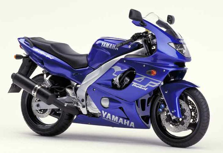 Yamaha yzf 600r thundercat 1998 2001 blue decal kit by for Yamaha r6 600 for sale