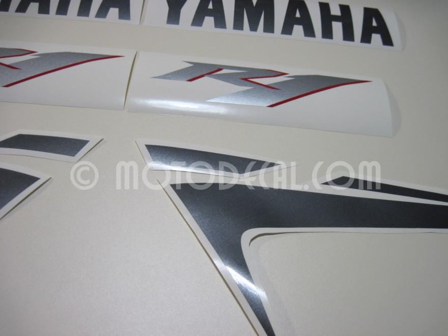 yamaha yzf r1 2007 black decal kit by motodecal com. Black Bedroom Furniture Sets. Home Design Ideas