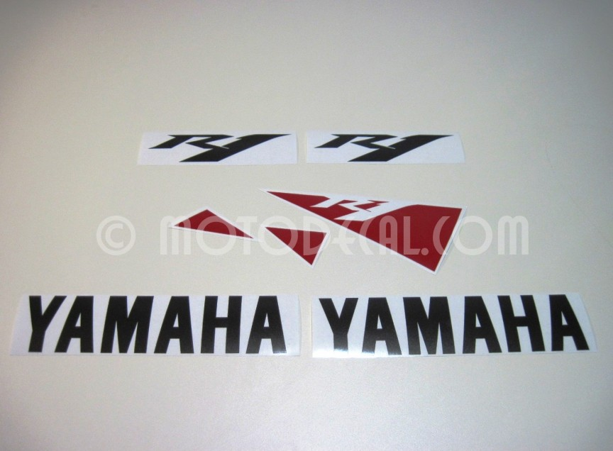yamaha yzf r1 2010 white decal kit by motodecal com. Black Bedroom Furniture Sets. Home Design Ideas