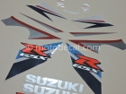 SUZUKI GSX-R 1000 2007 BLUE WHITE DECAL KIT