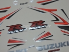 SUZUKI GSX-R 1000 2007 RED SILVER DECAL KIT