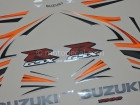 SUZUKI GSX-R 1000 2007 ORANGE BLACK DECAL KIT