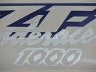 YAMAHA YZF-1000R THUNDERACE 1996-2001 BLUE BLACK DECAL KIT